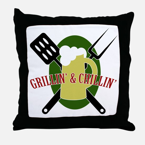 Chillin' & Grillin' Throw Pillow