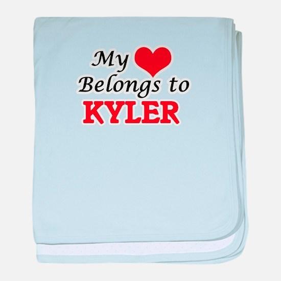 My heart belongs to Kyler baby blanket