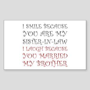 Smile Sister In Law Sticker