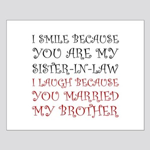 Smile Sister In Law Posters