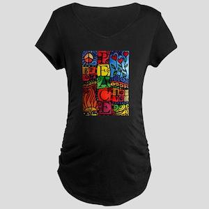 Peace, Love, Grow Maternity T-Shirt