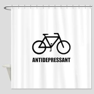 Antidepressant Bike Shower Curtain