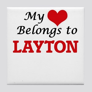 My heart belongs to Layton Tile Coaster