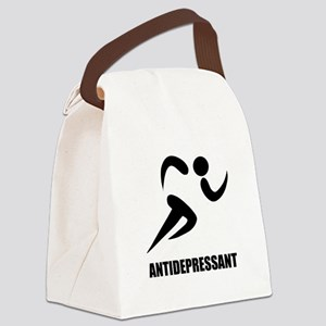 Antidepressant Runner Canvas Lunch Bag