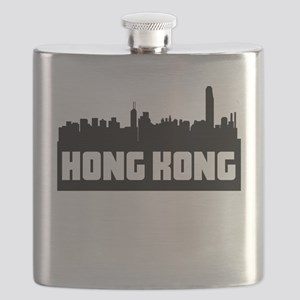 Hong Kong China Skyline Flask