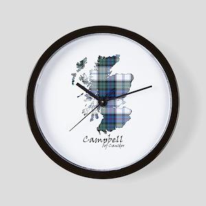 Map-CampbellCawdor dress Wall Clock