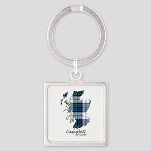 Map-CampbellCawdor dress Square Keychain