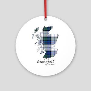 Map-CampbellCawdor dress Round Ornament