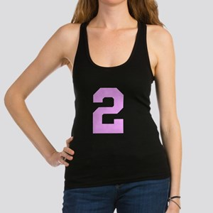 2 PINK # TWO Racerback Tank Top