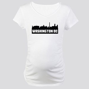 Washington DC Skyline Maternity T-Shirt
