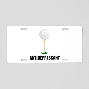 Antidepressant Golf Aluminum License Plate