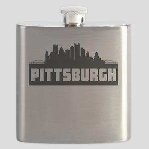 Pittsburgh Pennsylvania Skyline Flask