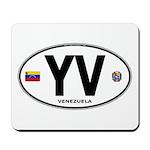 Venezuela Euro Oval Mousepad
