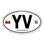 Venezuela Euro Oval Oval Sticker