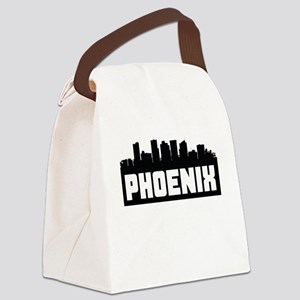Phoenix Arizona Skyline Canvas Lunch Bag