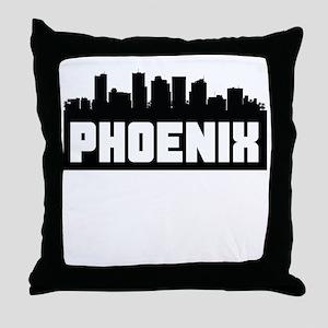 Phoenix Arizona Skyline Throw Pillow