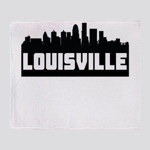Louisville Kentucky Skyline Throw Blanket