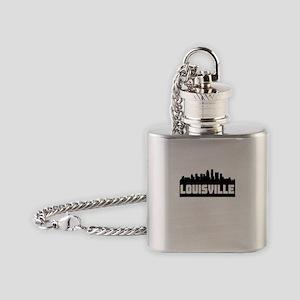 Louisville Kentucky Skyline Flask Necklace