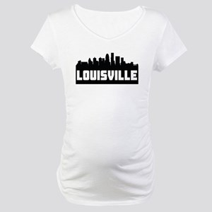 Louisville Kentucky Skyline Maternity T-Shirt