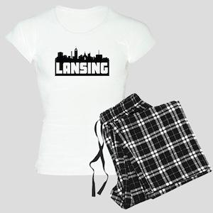 Lansing Michigan Skyline Pajamas