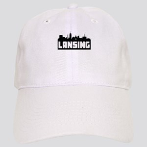 Lansing Michigan Skyline Baseball Cap