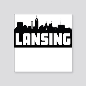 Lansing Michigan Skyline Sticker