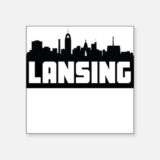 Lansing Michigan Skyline Sticker