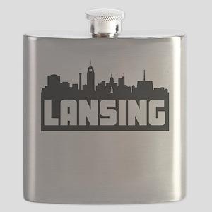 Lansing Michigan Skyline Flask