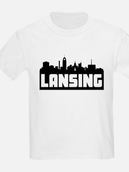 Lansing Michigan Skyline T-Shirt