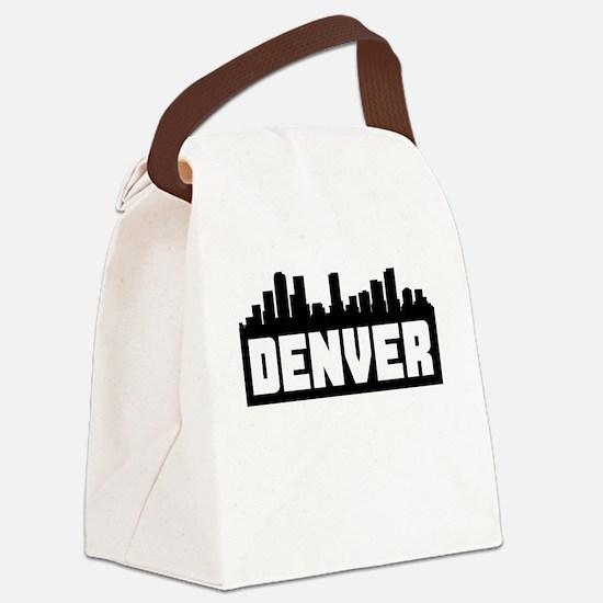 Denver Colorado Skyline Canvas Lunch Bag