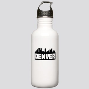 Denver Colorado Skyline Water Bottle