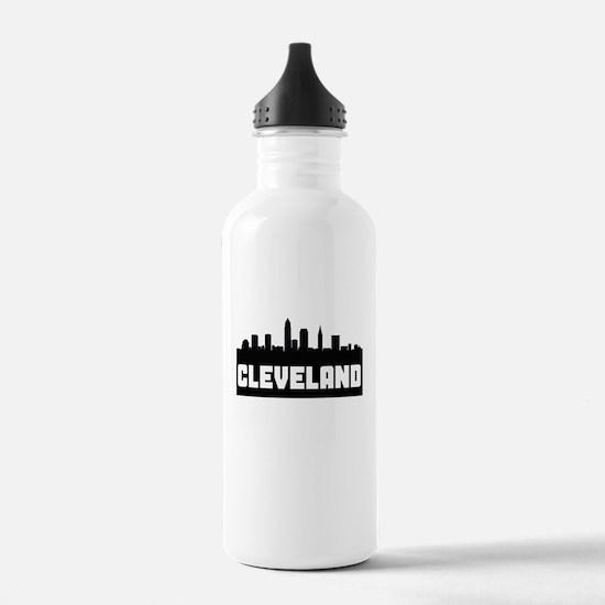 Cleveland Ohio Skyline Water Bottle