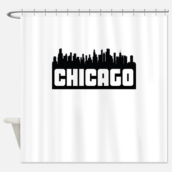 Chicago Illinois Skyline Shower Curtain