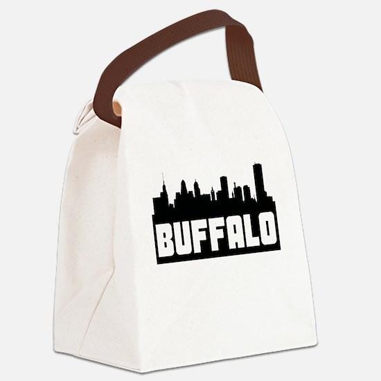 Buffalo New York Skyline Canvas Lunch Bag