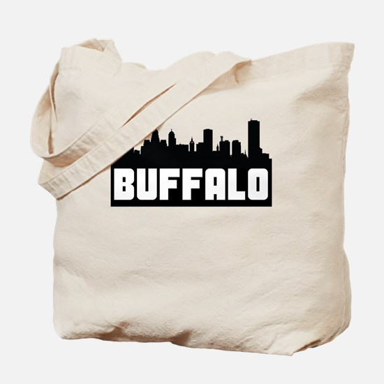 Buffalo New York Skyline Tote Bag