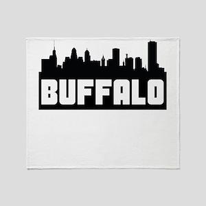 Buffalo New York Skyline Throw Blanket