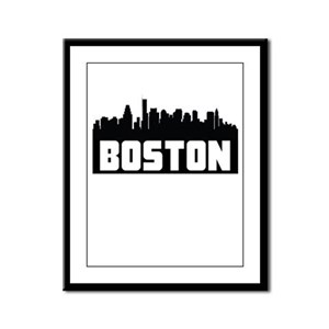 Boston Massachusetts Skyline Framed Panel Print
