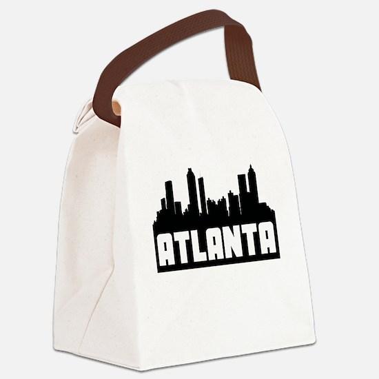 Atlanta Georgia Skyline Canvas Lunch Bag