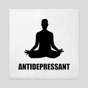 Antidepressant Yoga Queen Duvet