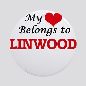 My heart belongs to Linwood Round Ornament