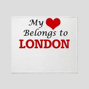 My heart belongs to London Throw Blanket
