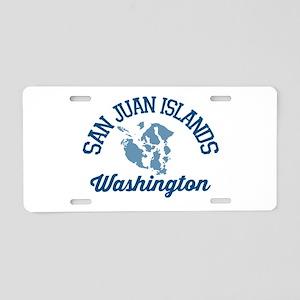 San Juan Islands. Aluminum License Plate