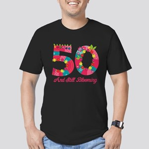 Blooming 50th Birthday Men's Fitted T-Shirt (dark)