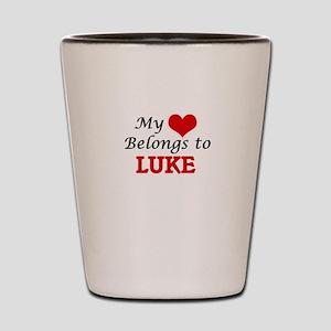 My heart belongs to Luke Shot Glass