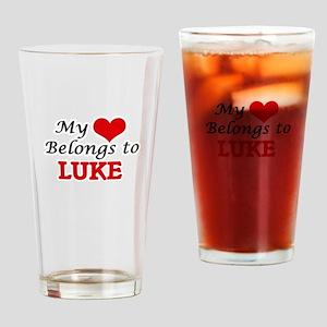 My heart belongs to Luke Drinking Glass