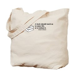 Books, Enjoy or Endure Tote Bag