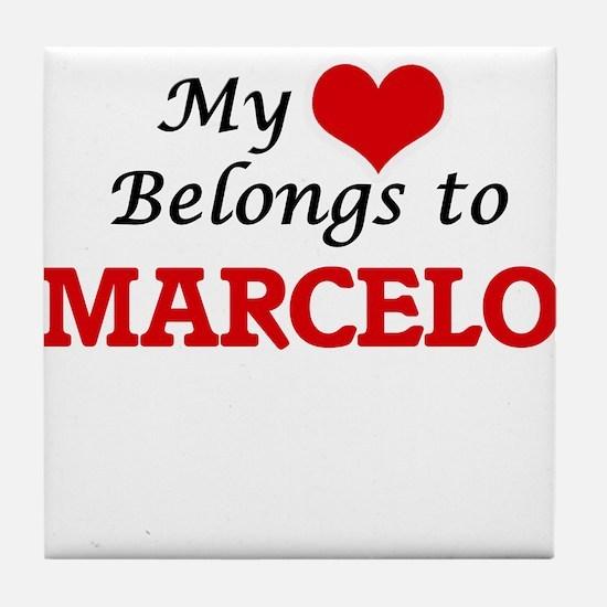 My heart belongs to Marcelo Tile Coaster