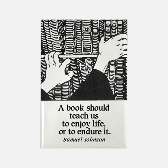 Books, Enjoy or Endure Rectangle Magnet