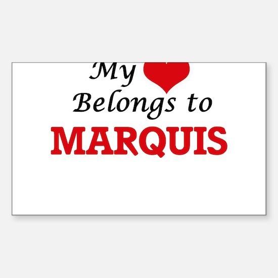 My heart belongs to Marquis Decal