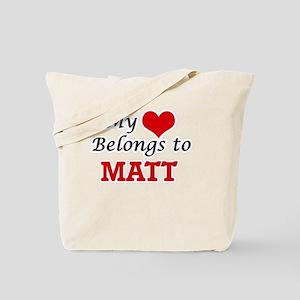 My heart belongs to Matt Tote Bag